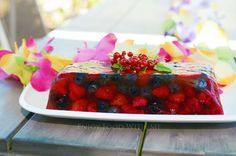 This summer berry rose terrine recipe has all the flavours of summer with rosewater and berries. summer is definitely on its way! Refreshing Desserts, Summer Berries, Healthy Dessert Recipes, Raspberry, Fruit, Food, Meals, Raspberries, Healthy Food Recipes