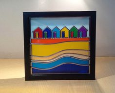 Beach Huts Stained glass