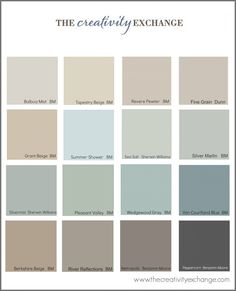 Collection of the most popularpinned paint colors on Pinterest Paint