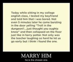 Marry Him Right Now!!!