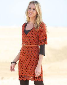 Revista mujer Básicos 7 Otoño / Invierno | 12: Mujer Vestido | Naranja intenso