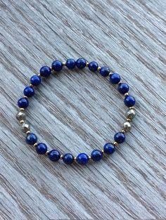 Lapis Lazuli Bracelet Lapis Lazuli and Pyrite by BBTresors