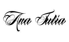 Tatuagem do nome Ana Julia utilizando o estilo Anha Queen Script Name Tattoos, Tatoos, Christ Tattoo, Chicano Art, Miguel Angel, Julia, Tattoo Studio, Piercing, Sandro