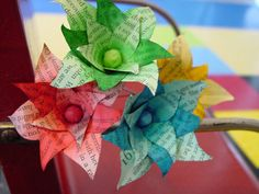 Rainbow bookpage flowers--custom order and surprise gift. Starting at $8 on Tophatter.com!