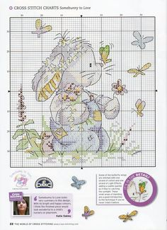 Butterfly Kisses For You (Somebunny) From The World Of Cross Stitching N°150 2009 3 of 4