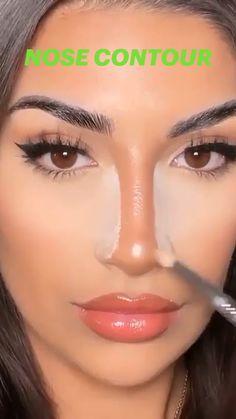 Nose Contouring, Contour Makeup, Eyebrow Makeup, Skin Makeup, Eyeshadow Makeup, Makeup Goals, Makeup Tips, Beauty Makeup, Makeup Hacks