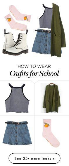 """""""Go to school"""" by sadpigeon2001 on Polyvore featuring Chicnova Fashion and Dr. Martens"""