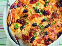 Pudding de pain perdu au parmesan : Recette de Pudding de pain perdu au parmesan - Marmiton