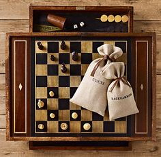 Backgammon and Chess (there are wonderful sets for children, too--great gifts)