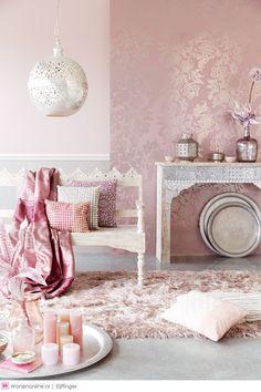 pink decoration, home interior trends Modern Moroccan, Moroccan Design, Moroccan Decor, Moroccan Print, Design Marocain, Living Room Decor, Bedroom Decor, Interior And Exterior, Interior Design
