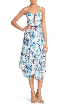 Parker 'Daisy' Floral Print Silk Sundress available at #Nordstrom
