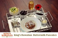 Mother's Day Breakfast In Bed Idea  - King's Hawaiian Buttermilk Pancakes Recipe