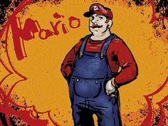 Mario by necos