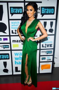 Lilly Ghalichi Sexy Green V-Neck Backless Evening Dresses