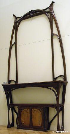 Hector Guimard /c.1897-8  Material : Limewood, Chased copper, Jarrah