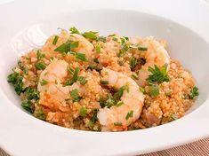 Gambas con quinoa
