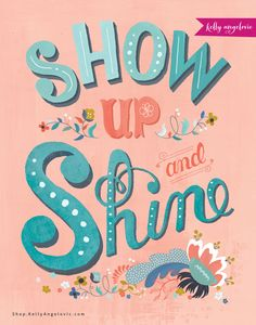 This inspirational greeting card features the hand lettered phrase Show Up and Shine. I created this collection for the goddess in YOU. As I follow the whispers of my heart, my dream is to inspire you to do the same. Printed on 100% recycled paper.