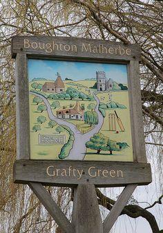 Grafty Green Village in Kent, England Pub Signs, Shop Signs, Hops Trellis, English Village, Kent England, Place Names, Decorative Signs, Signage Design, My Heritage