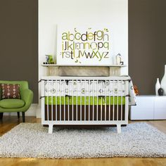 Baby cot design modern compact green Chair green accents