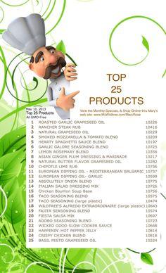 Top 25 Wildtree Products, 2013 -www.HealthyRecipesQuick.com