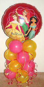 balloon princess   DISNEY PRINCESS FOIL BALLOON DISPLAY TABLE CENTREPIECE BIRTHDAY ...