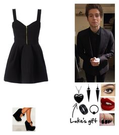 """""""Your birthday with Luke"""" by ebiloveyou ❤ liked on Polyvore featuring FAUSTO PUGLISI, Charlotte Tilbury, Oasis and Lord & Taylor"""