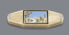 A GOLD AND ENAMEL TOOTHPICK CASE, GERMAN, PROBABLY HANAU, CIRCA 1800 Estimate 4,000 — 5,000 EUR