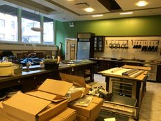 Lots of boxes to unpack means new appliances for The Chopping Block's students.
