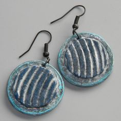 Earrings Distressed Polymer Clay Jewelry RIPPLE by ArtQwerksArtCirque