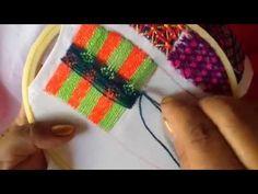 # 21 bordado fantasía para rebozo,faldas e.t.c con cony - YouTube