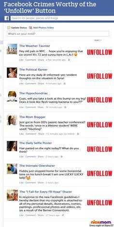 Facebook Adds an 'Unfollow' Button