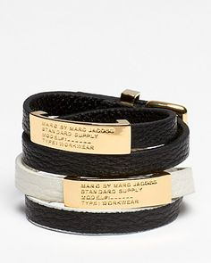 MARC BY MARC JACOBS Standard Supply Double Wrap Leather Bracelet | Bloomingdale's