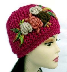 Hand Knitted Hat and Scarf Set with Crochet Flower. by Nikifashion, $65.00