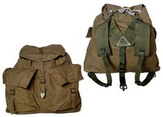 1950s Vintage Czech Army Backpack Khaki Canvas Rucksack Harness New Hiking Retro in Sporting Goods, Camping, Hiking, Hiking Backpacks | eBay