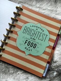 The Happy Planner Recipe Organizer Review