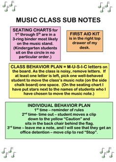 Beth's Music Notes: Music Sub Plans, the Basics