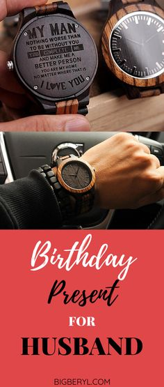 This watch is a perfect wedding anniversary gift or a birthday present for husband! You can get your personal message engraved on it! Creative Birthday Gifts, Cute Birthday Gift, Good Birthday Presents, Diy Gifts For Boyfriend, Birthday Gifts For Boyfriend, Couple Items, Couple Gifts, Husband Anniversary, Wedding Anniversary Gifts