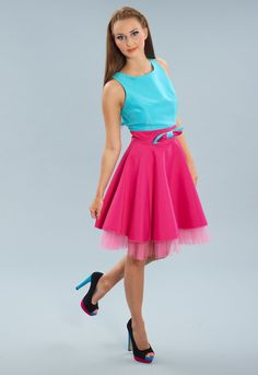 Kate Fearnley Buttercup Dress in Pink and Turquoise, £165. Perfect for a retro themed wedding