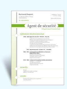 Modèle CV original Agent de Sécurité