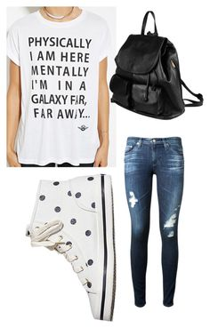"""""""Untitled #43"""" by kalenastewart on Polyvore featuring AG Adriano Goldschmied, Forever 21, Keds and PARENTESI"""