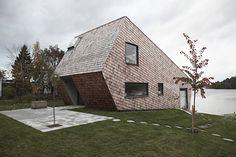 Cone house, Stockholm Archipelago, bu Trigueiros Architecture. Via maderadearquitecto.