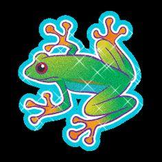 Green Glitter Tree Frog