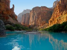 Absolutely stunning!  This is LCR at the bottom of Big Canyon, a tributary into the Grand Canyon.