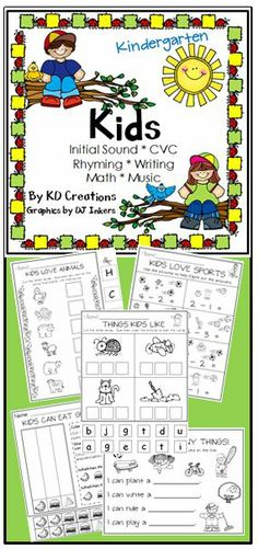 Kindergarten Kids rock! Your young students will enjoy this unit full of fun activities in music, math and literacy. Graphics and activities inspired by who we all love - kids!