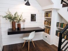 Office Nook Off The Downstairs Den After