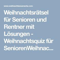 Weihnachtsrätsel für Senioren und Rentner mit Lösungen - Weihnachtsquiz für SeniorenWeihnachtswuensche.com