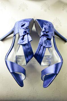 Something blue! #WeddingShoes