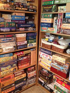 Superbe Ooohh Double Sided Corner Closet Full Of Board Games