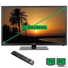 LED TV Fernseher 32 Zoll 82cm Fernsehgerät und Computermonitor, USB, 3x HDMI, CI