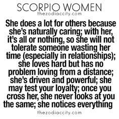 TheZodiacCity - Best Zodiac Facts Since 2011. — What you need to know about Scorpio women. For...